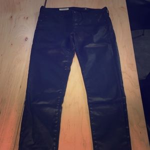 Adriano goldchmeid high end black leather pants